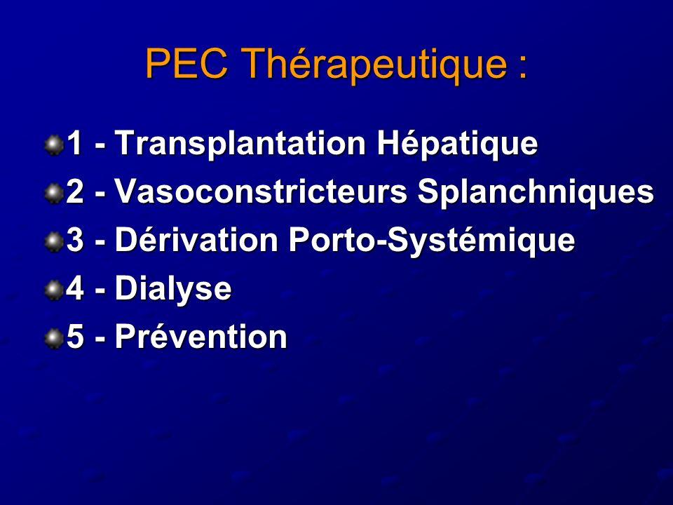 PEC Thérapeutique : 1 - Transplantation Hépatique