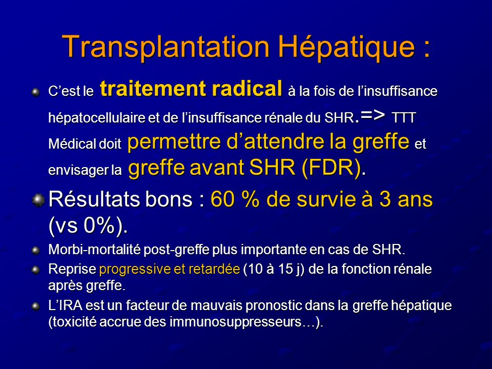 Transplantation Hépatique :