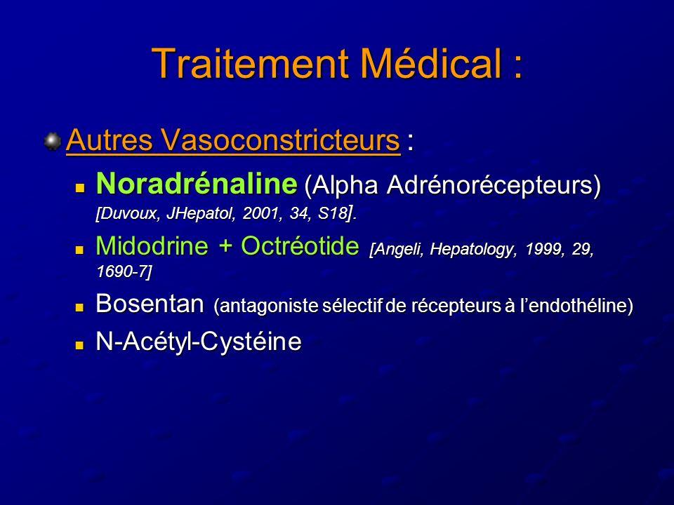 Traitement Médical : Autres Vasoconstricteurs :