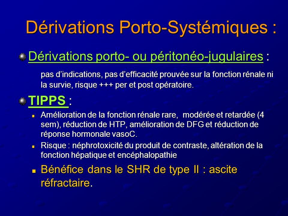 Dérivations Porto-Systémiques :