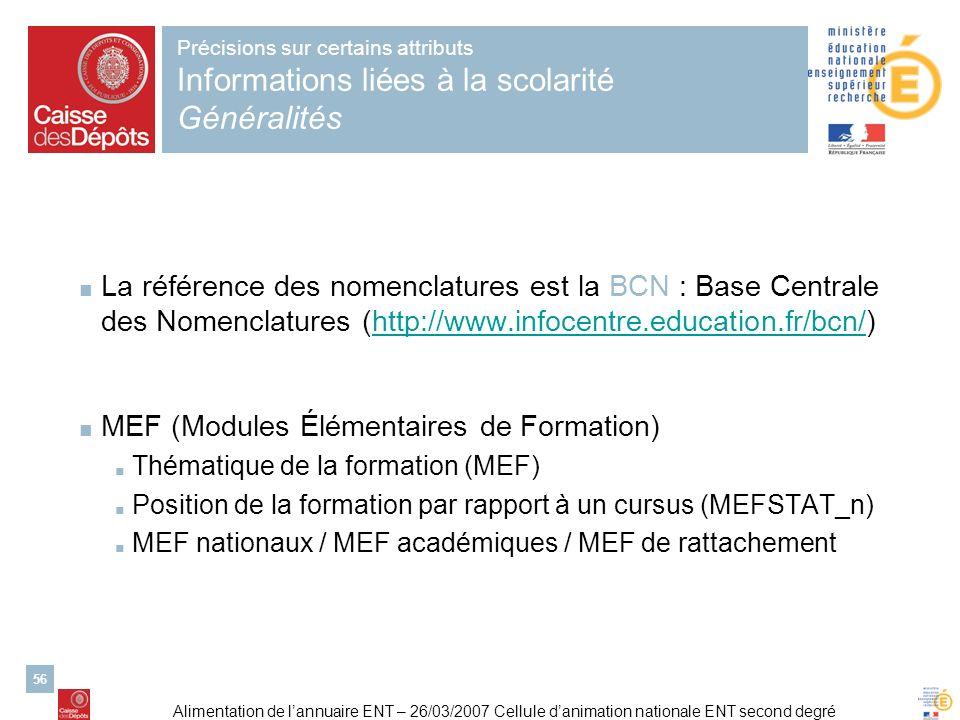 MEF (Modules Élémentaires de Formation)