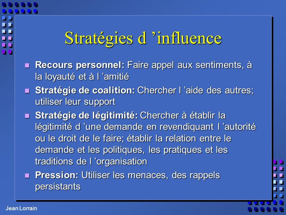 Stratégies d 'influence
