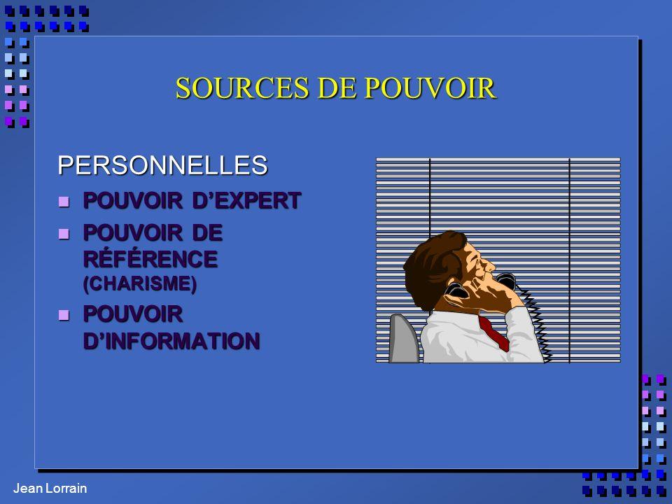 SOURCES DE POUVOIR PERSONNELLES POUVOIR D'EXPERT