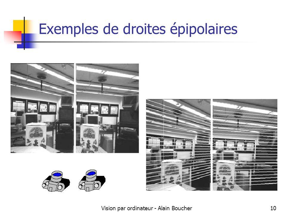 Exemples de droites épipolaires