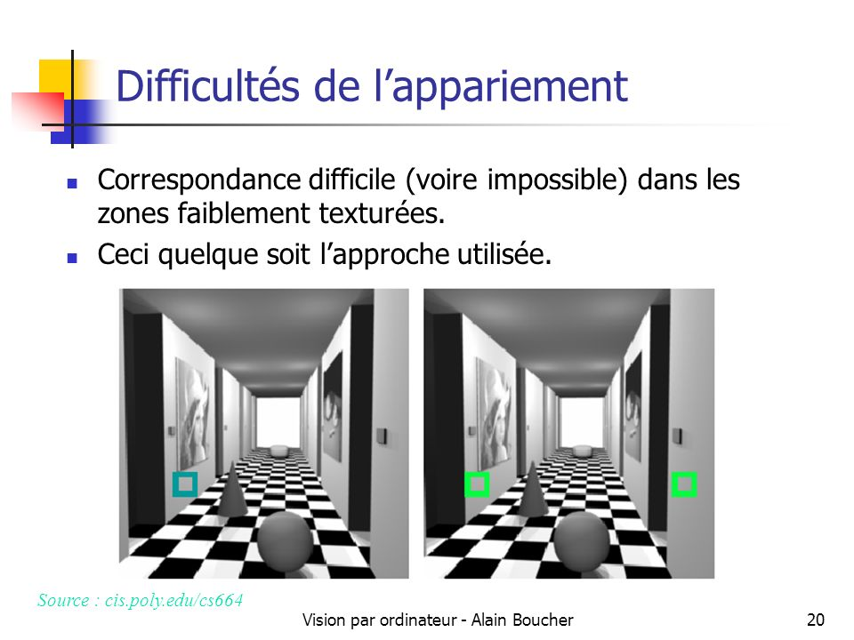 Difficultés de l'appariement