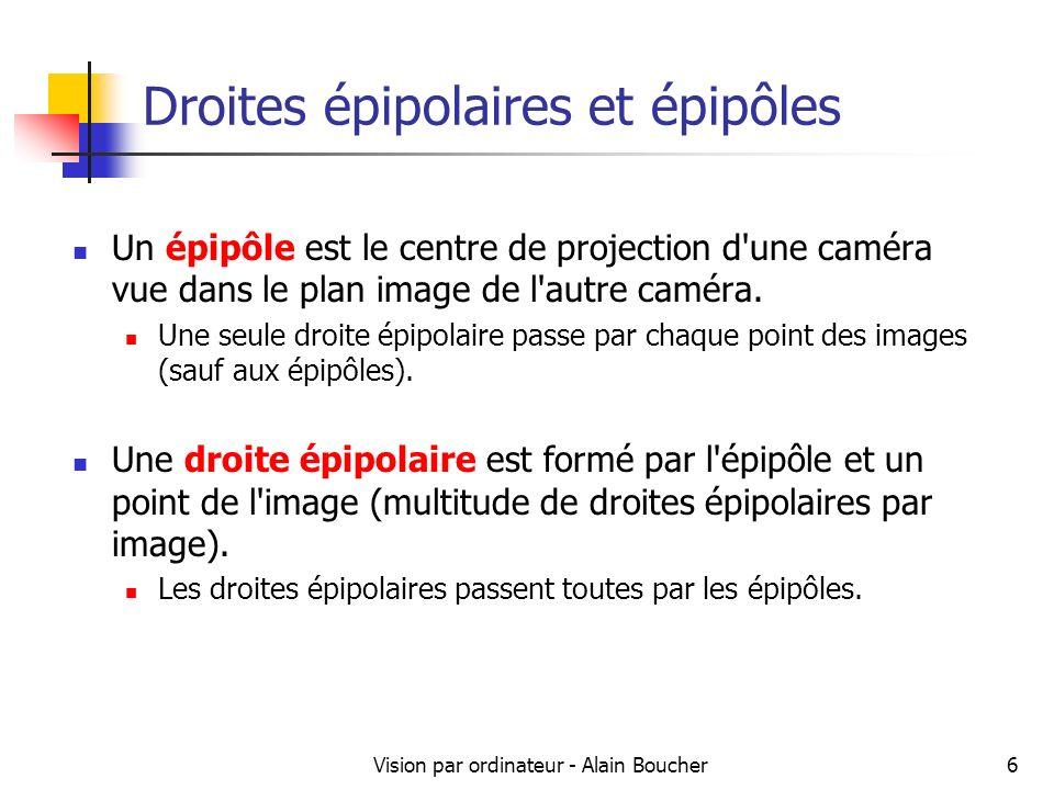 Droites épipolaires et épipôles