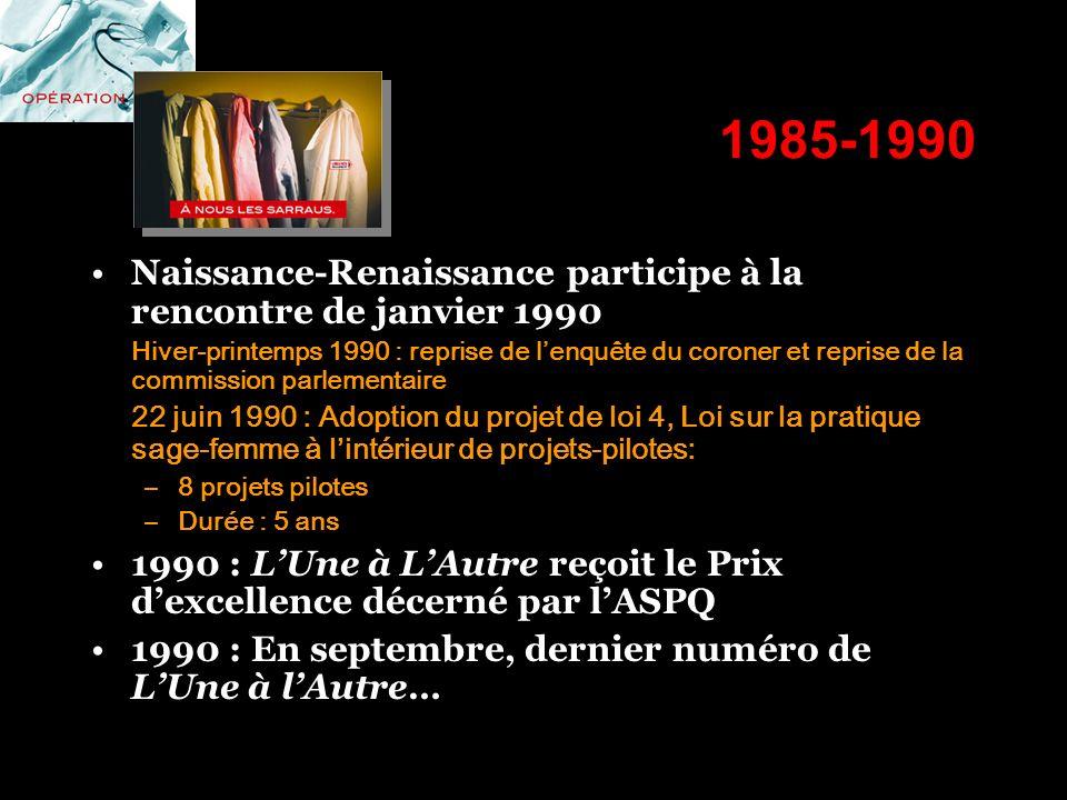 1985-1990 Naissance-Renaissance participe à la rencontre de janvier 1990.