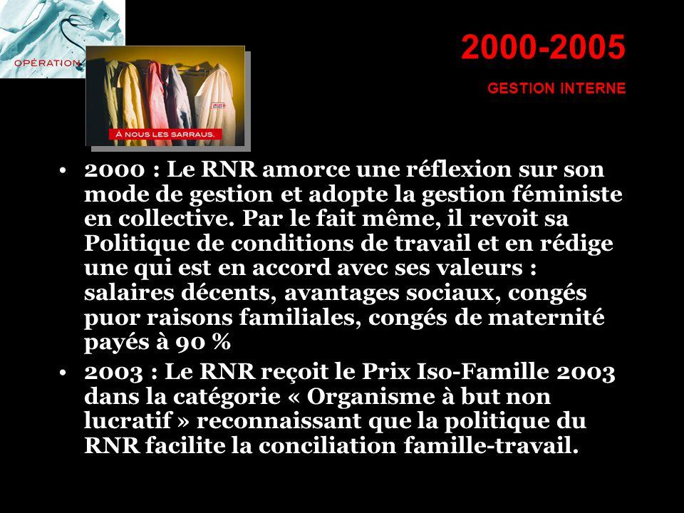 2000-2005 GESTION INTERNE