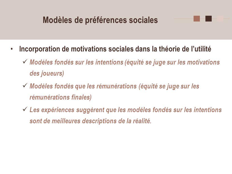 Modèles de préférences sociales