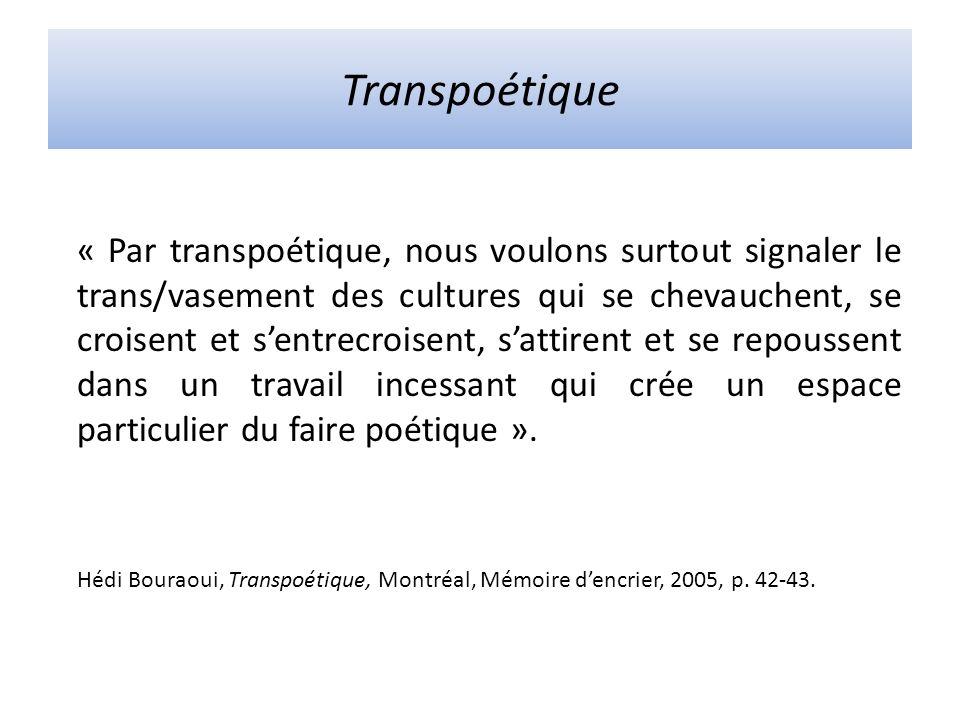 Transpoétique