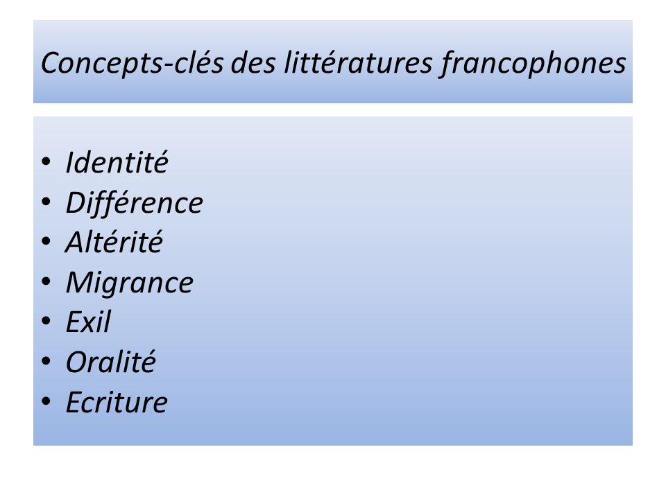 Concepts-clés des littératures francophones