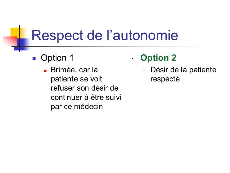 Respect de l'autonomie