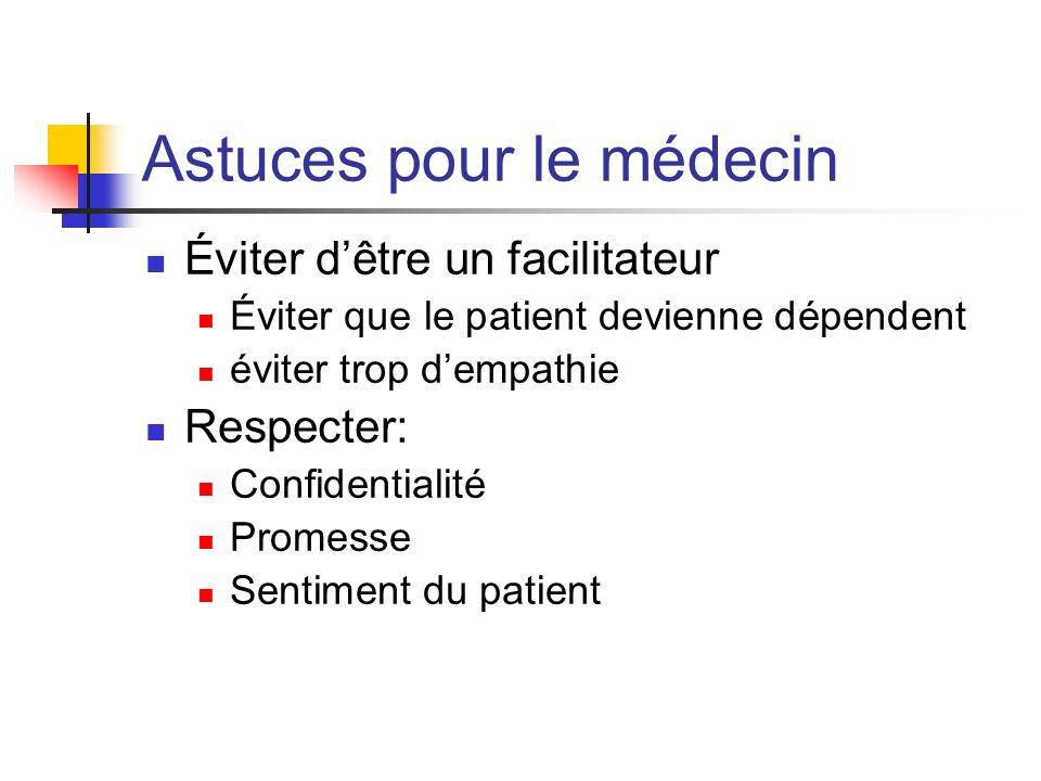 Astuces pour le médecin