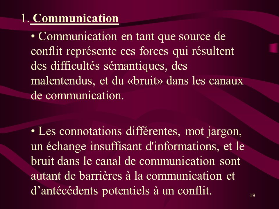 1. Communication