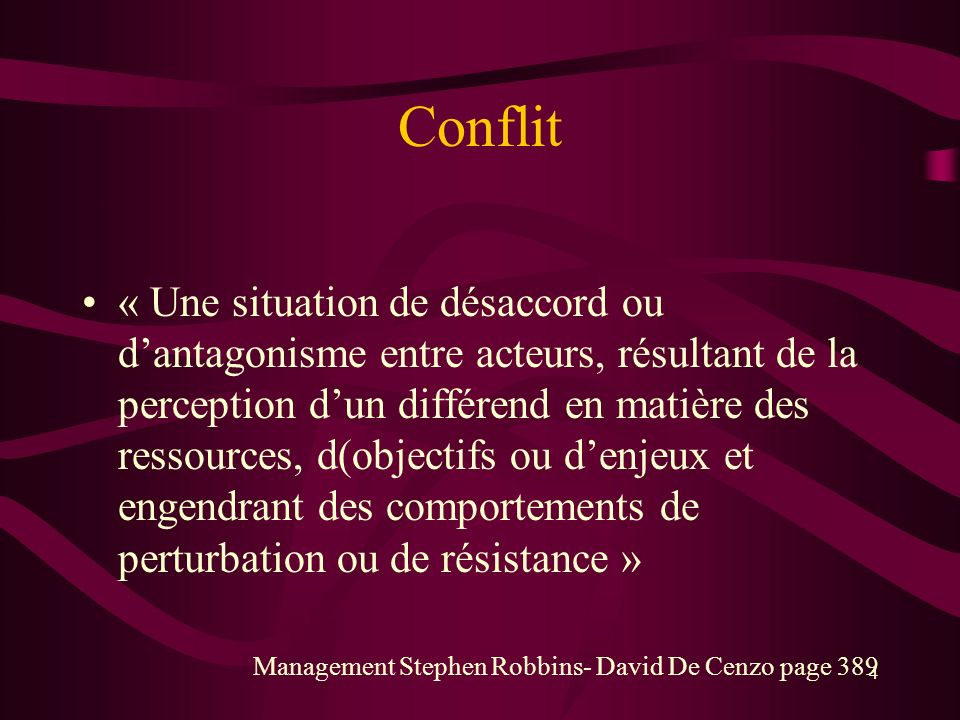 Conflit