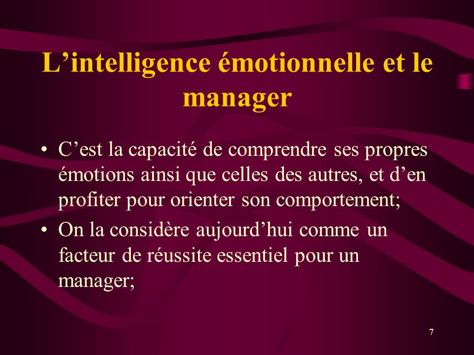 L'intelligence émotionnelle et le manager