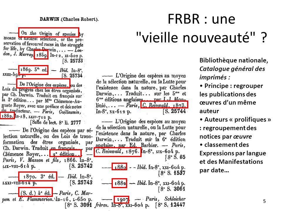 FRBR : une vieille nouveauté