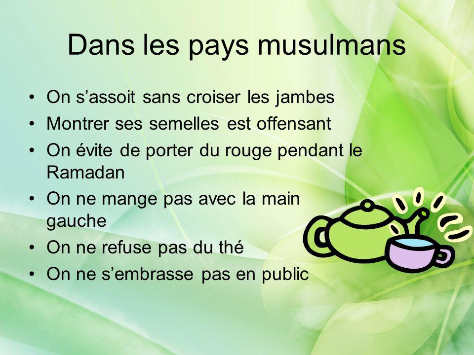Dans les pays musulmans