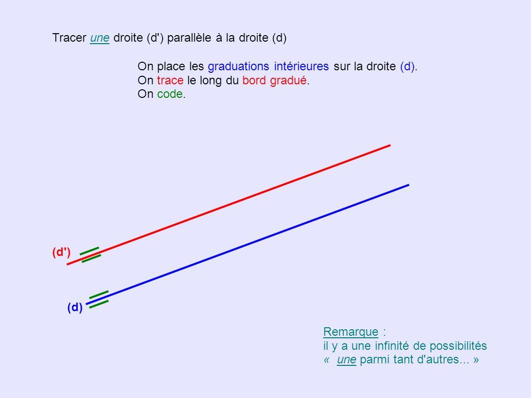 Tracer une droite (d ) parallèle à la droite (d)