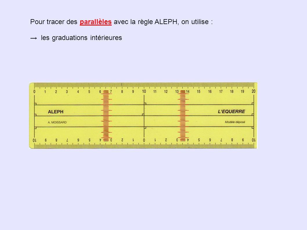 Pour tracer des parallèles avec la règle ALEPH, on utilise :