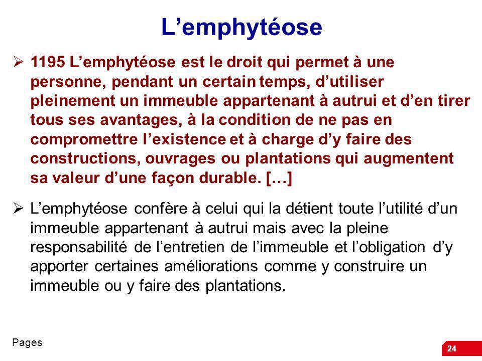 L'emphytéose
