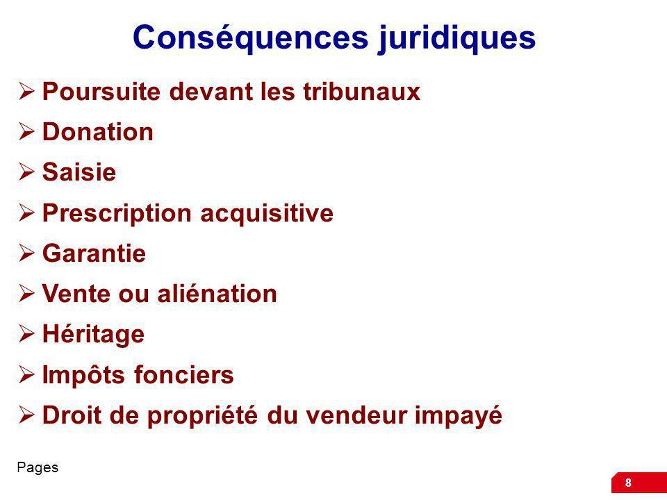 Conséquences juridiques
