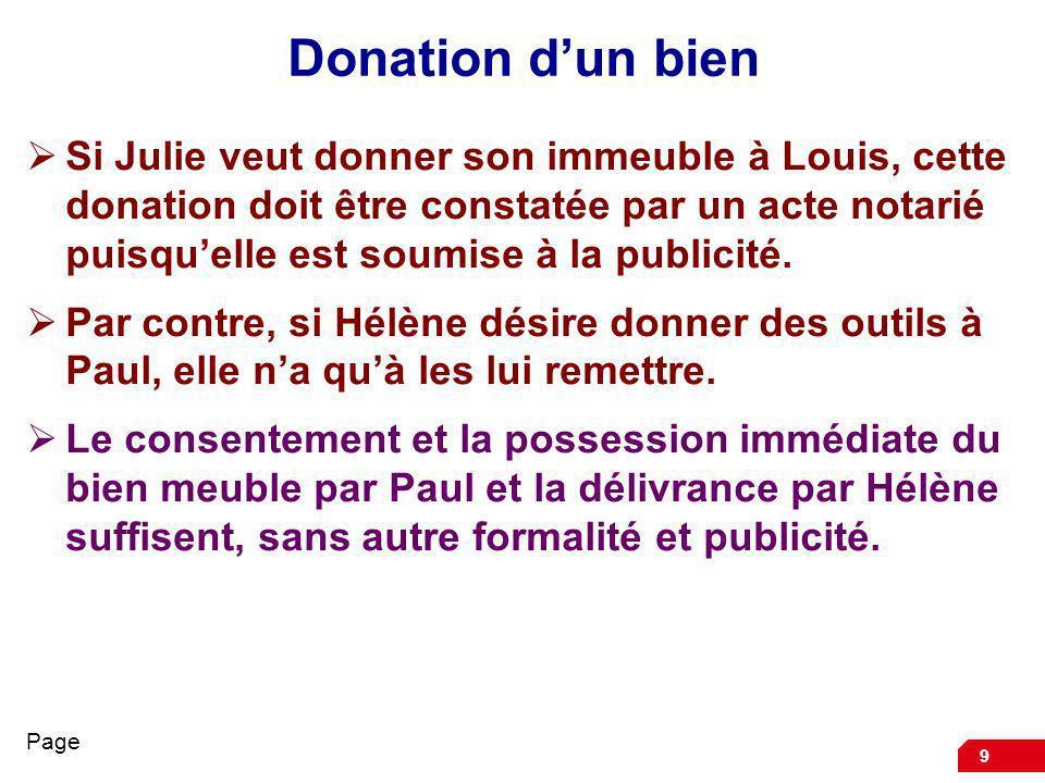 Donation d'un bien