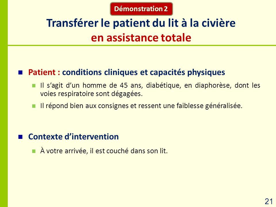 Transférer le patient du lit à la civière en assistance totale