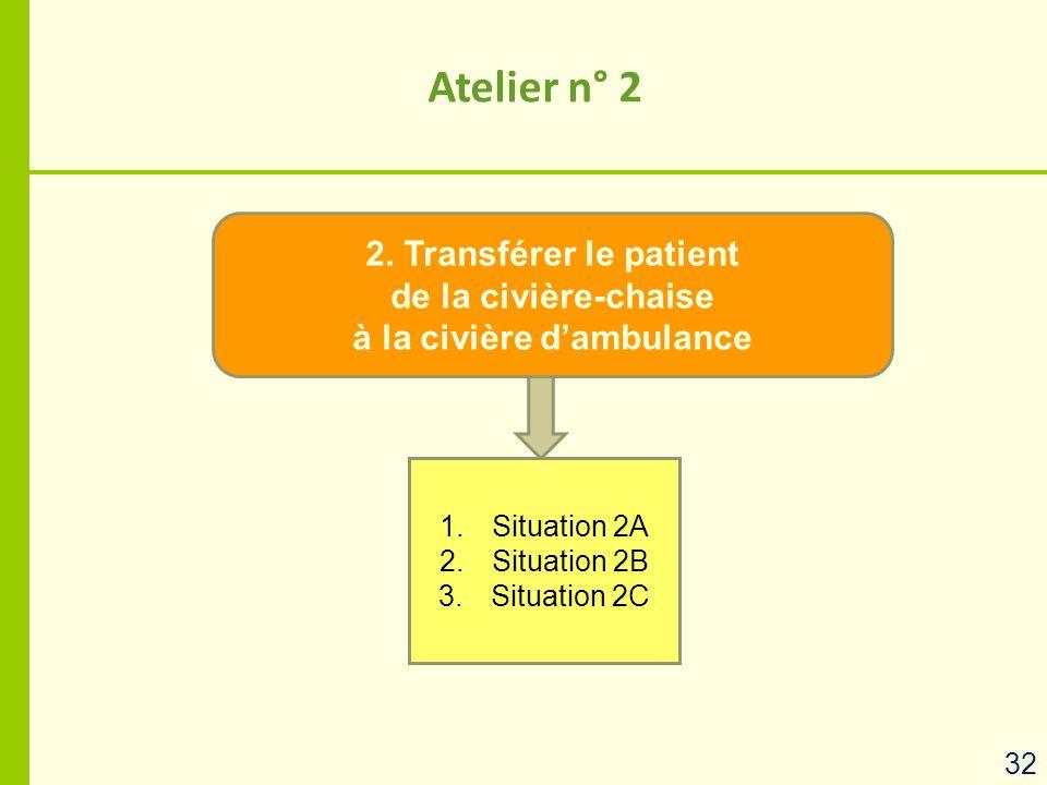 2. Transférer le patient de la civière-chaise à la civière d'ambulance