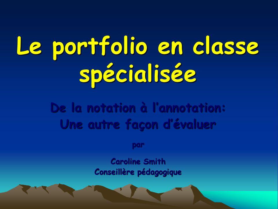 Le portfolio en classe spécialisée