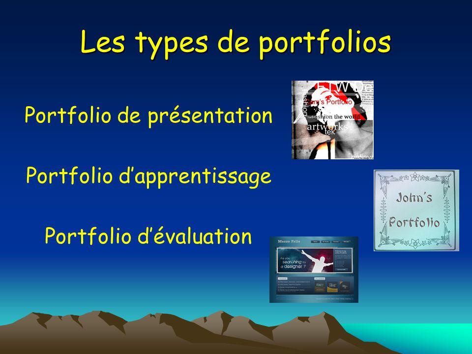Les types de portfolios