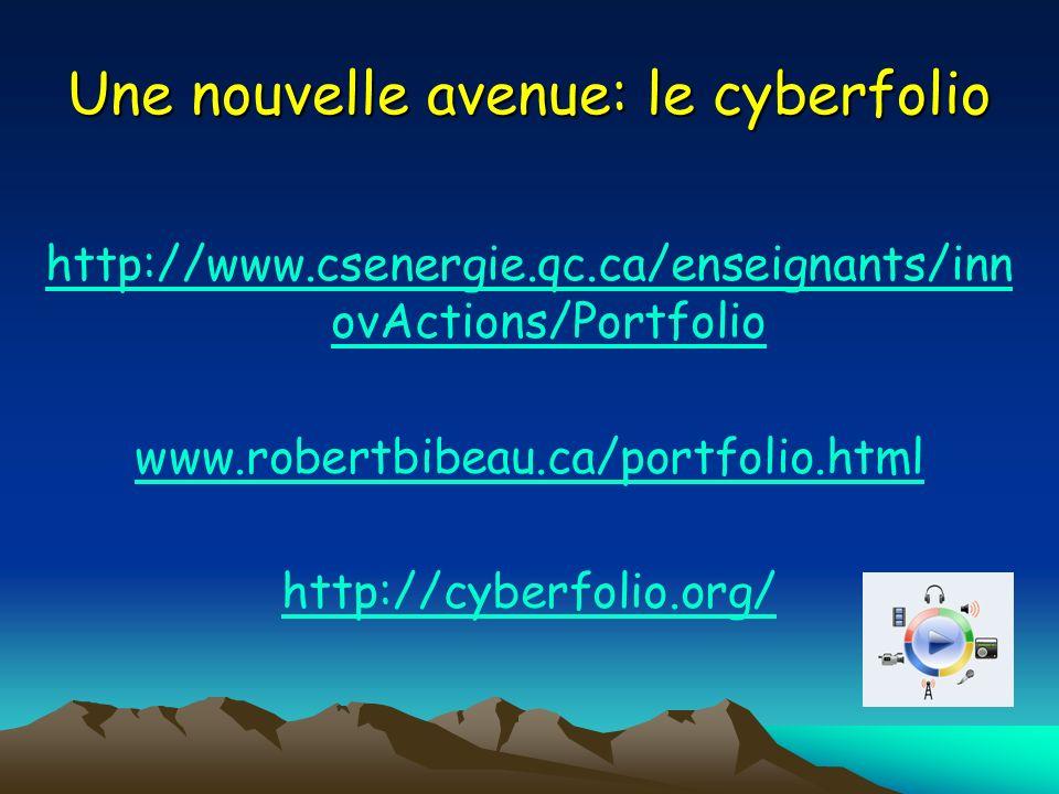 Une nouvelle avenue: le cyberfolio