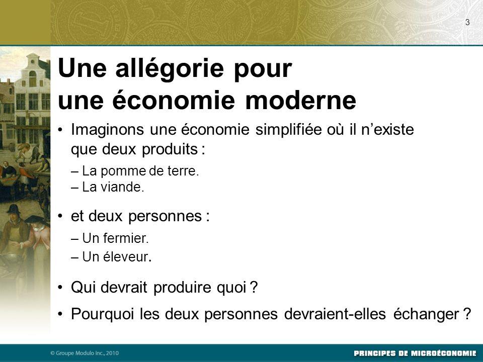 Une allégorie pour une économie moderne
