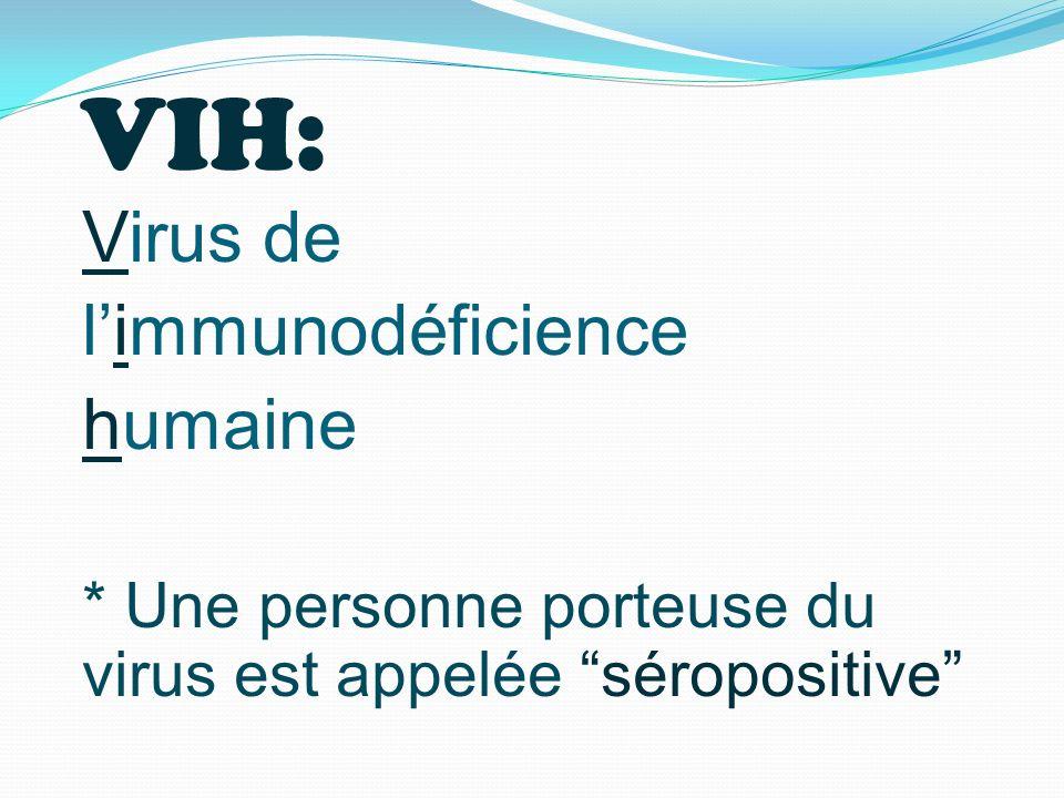 VIH: Virus de l'immunodéficience humaine