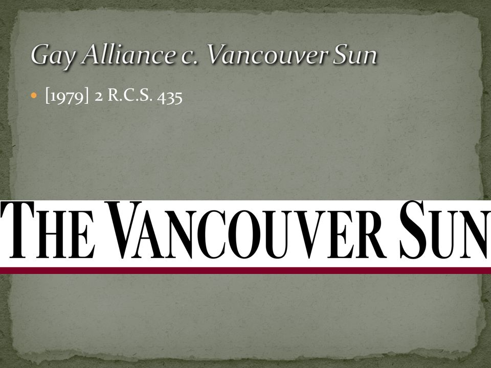 Gay Alliance c. Vancouver Sun