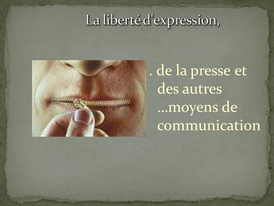 La liberté d expression,