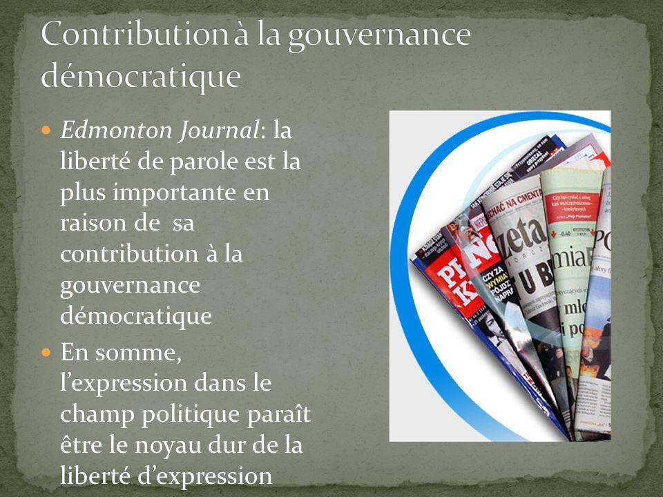 Contribution à la gouvernance démocratique