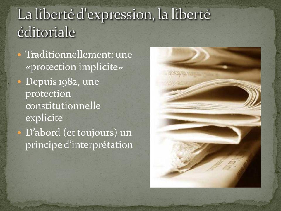 La liberté d expression, la liberté éditoriale