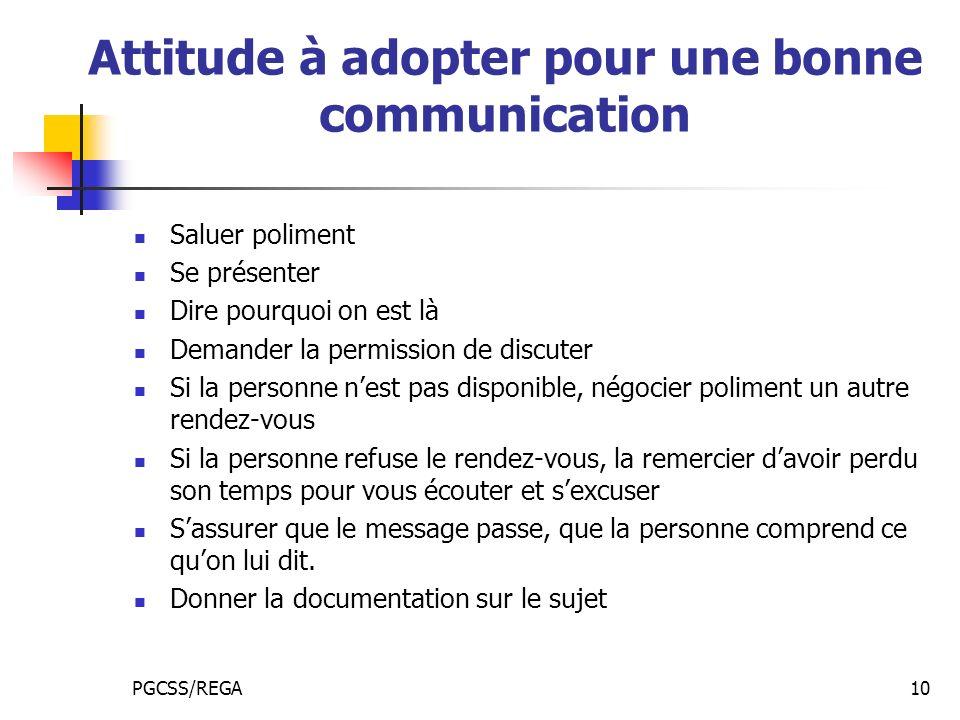 Attitude à adopter pour une bonne communication