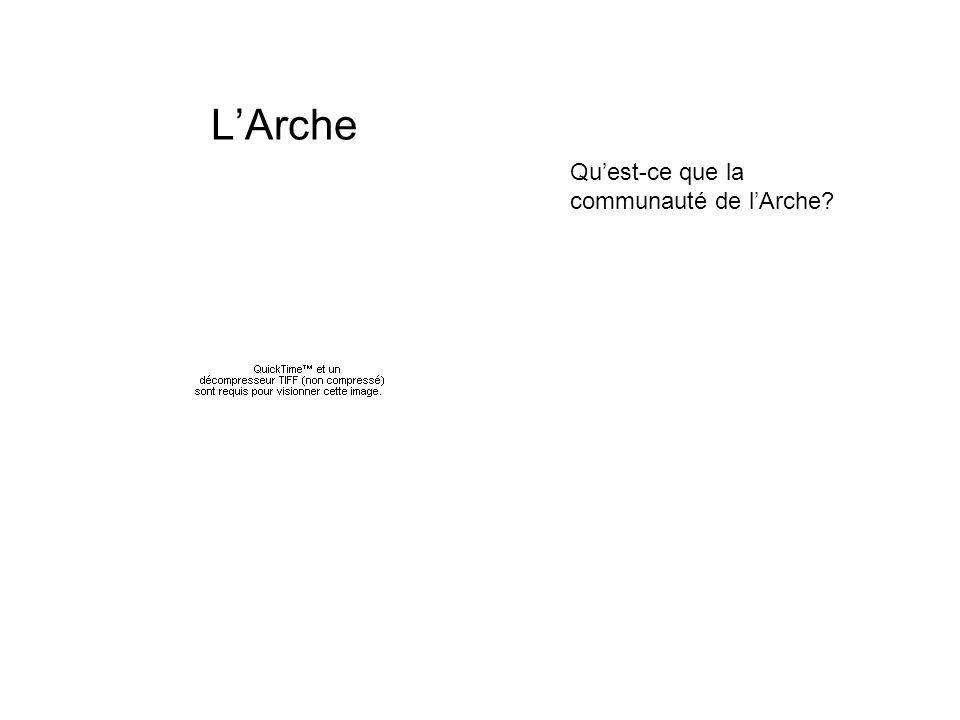 L'Arche Qu'est-ce que la communauté de l'Arche