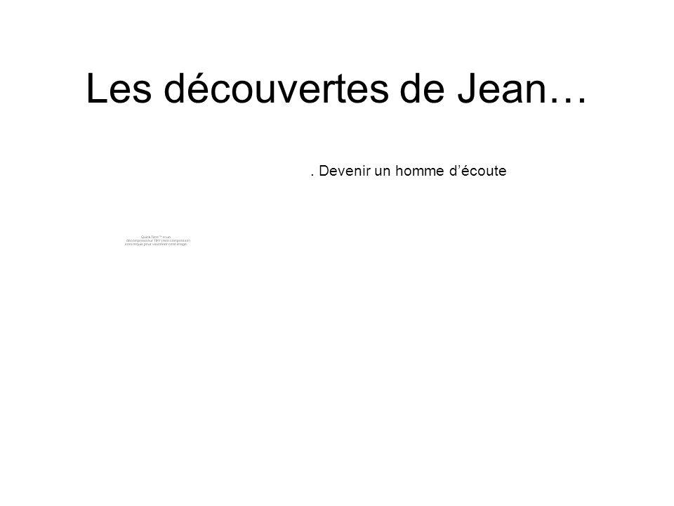 Les découvertes de Jean…