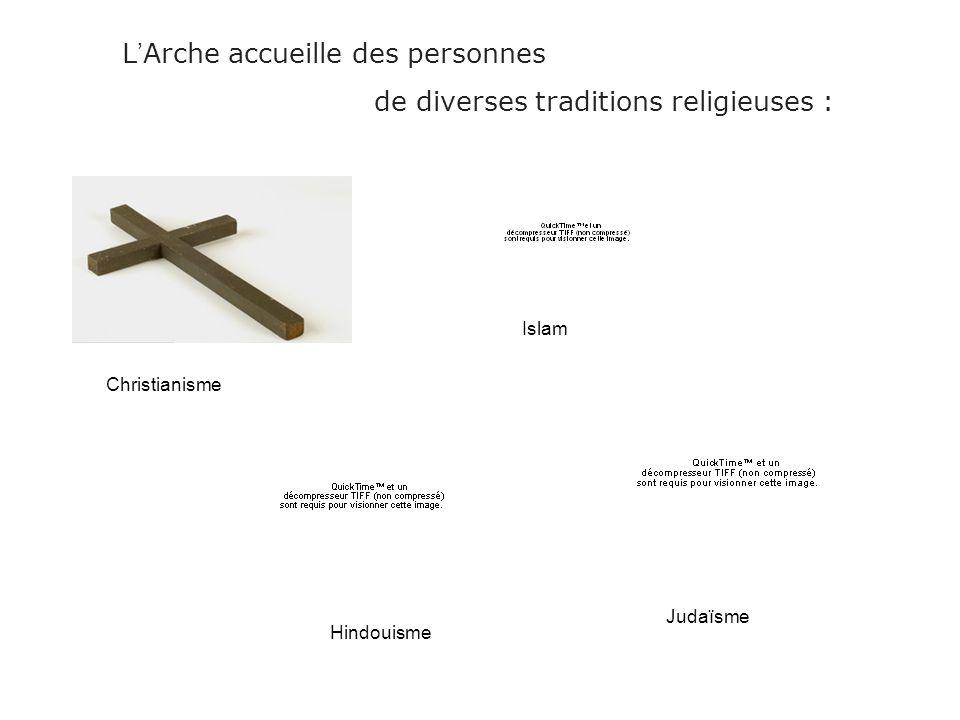 L'Arche accueille des personnes de diverses traditions religieuses :