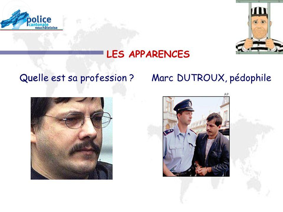 LES APPARENCES Que Quelle est sa profession Marc DUTROUX, pédophile
