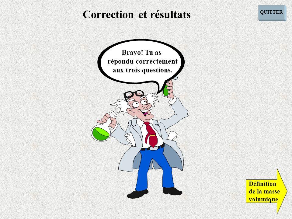 Correction et résultats