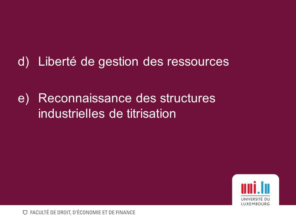 Liberté de gestion des ressources