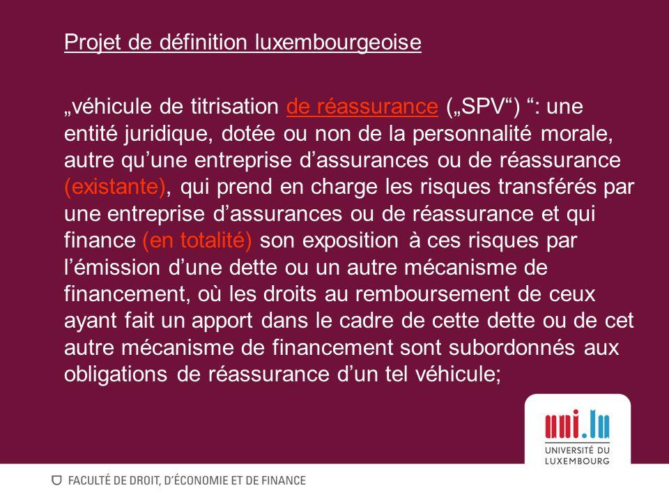 Projet de définition luxembourgeoise