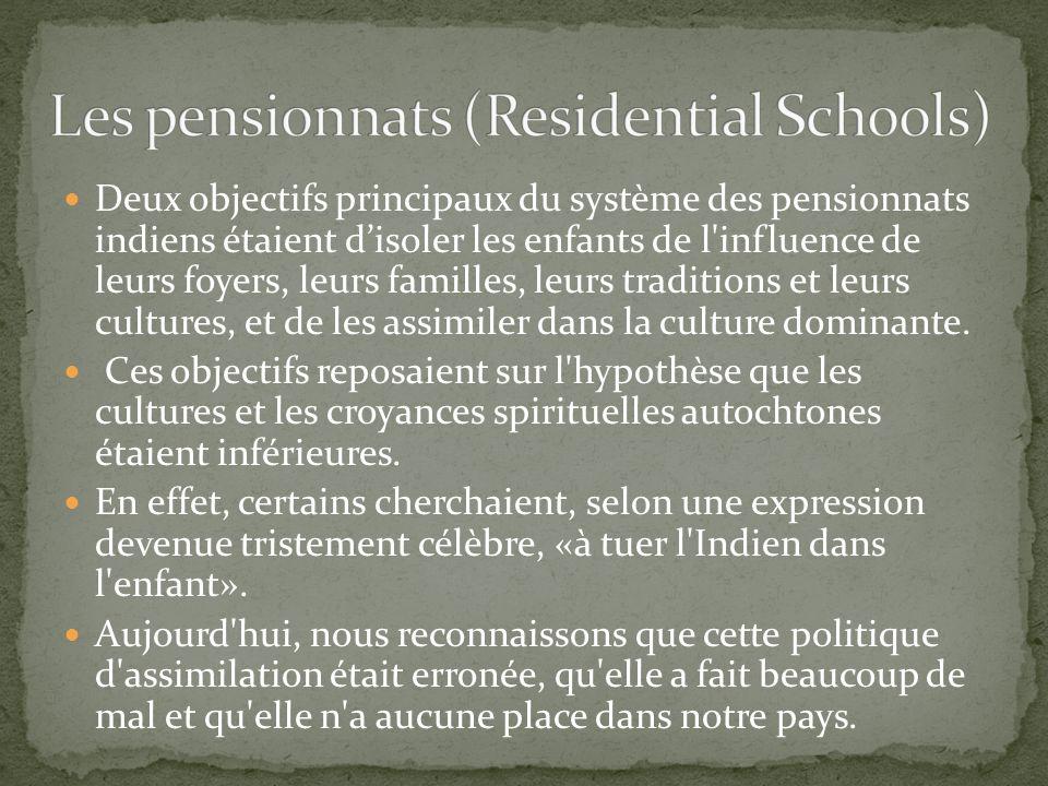 Les pensionnats (Residential Schools)