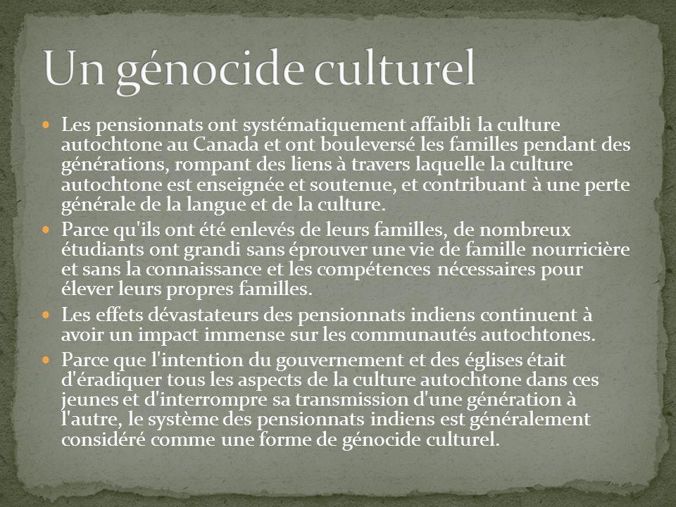 Un génocide culturel