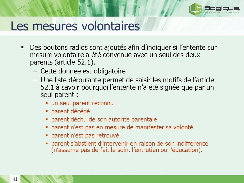 Les mesures volontaires