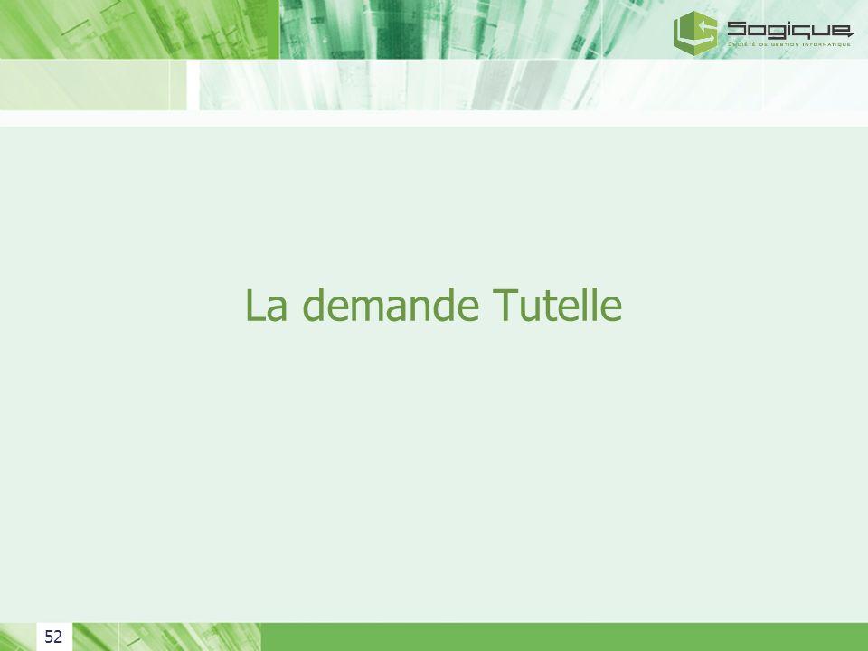 La demande Tutelle